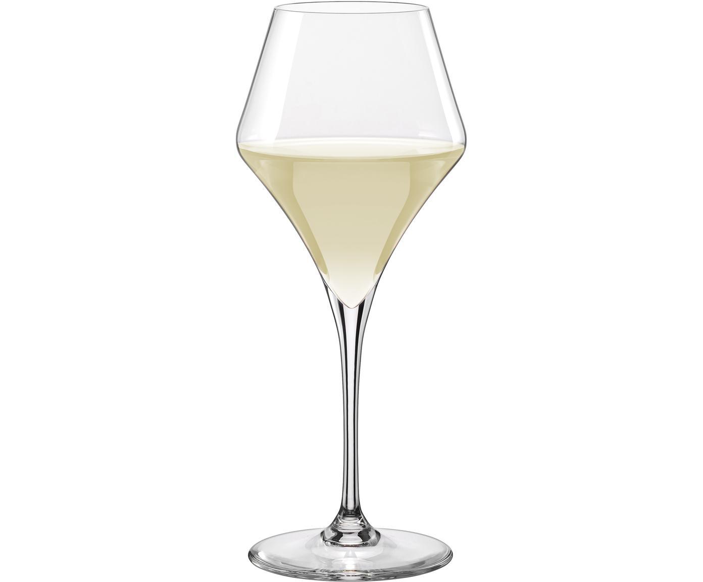 Bolvormige witte wijnglazen Aram, 6-delig, Glas, Transparant, Ø 6 x H 26 cm