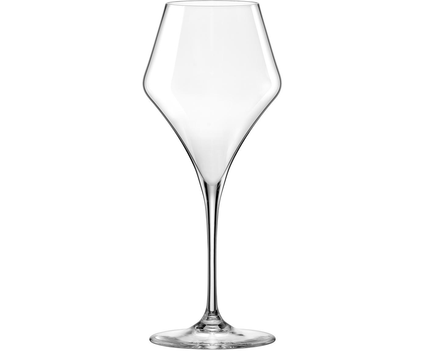 Bauchige Weißweingläser Aram, 6er-Set, Glas, Transparent, Ø 9 x H 22 cm