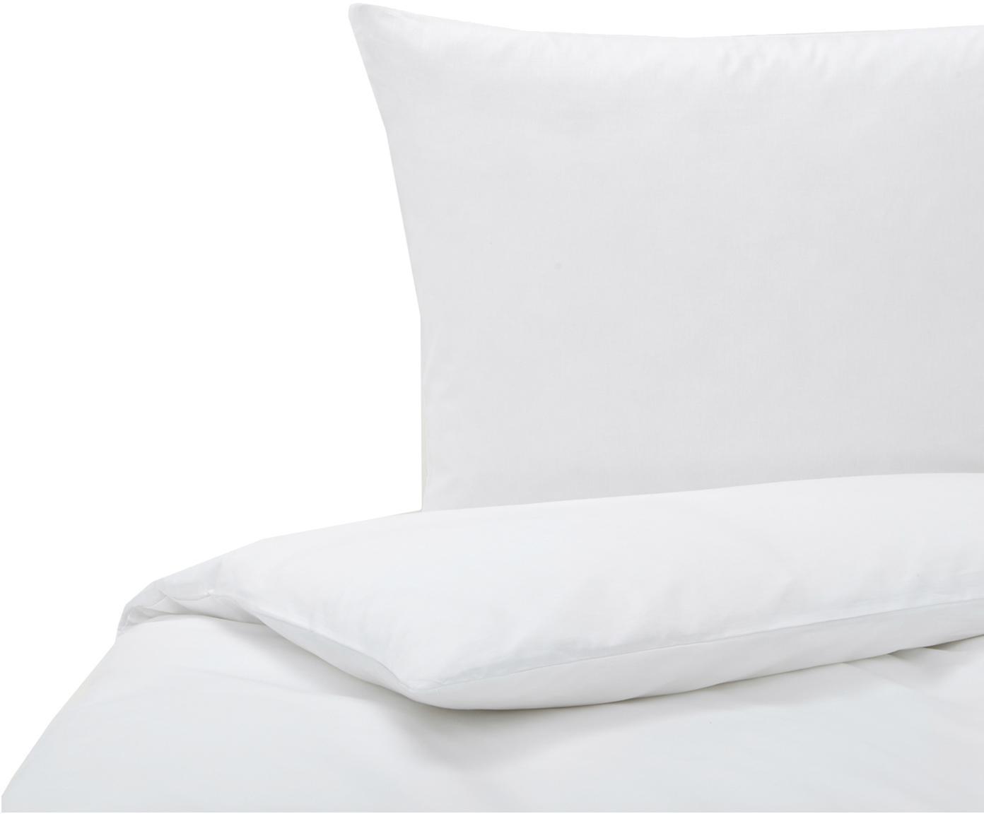 Baumwoll-Bettwäsche Weekend in Weiß, 100% Baumwolle Bettwäsche aus Baumwolle fühlt sich auf der Haut angenehm weich an, nimmt Feuchtigkeit gut auf und eignet sich für Allergiker., Weiß, 135 x 200 cm + 1 Kissen 80 x 80 cm