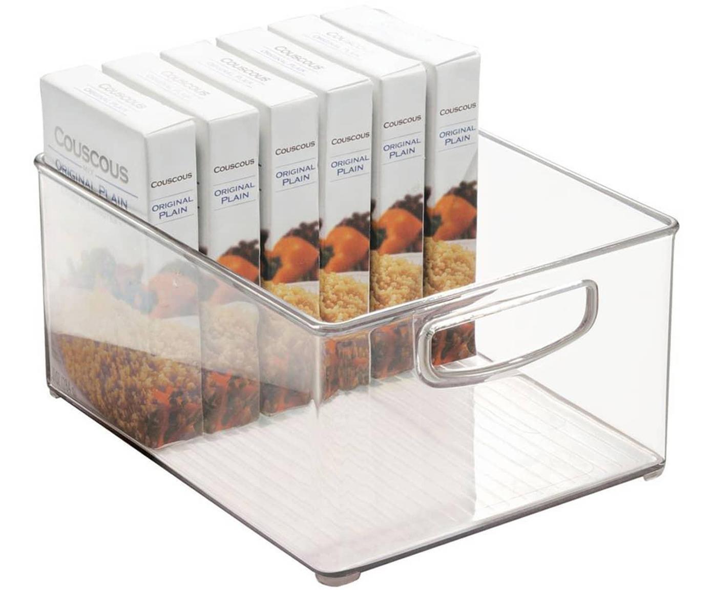 Organizador de cocina Binz, Plástico, Transparente, An 25 x Al 13 cm