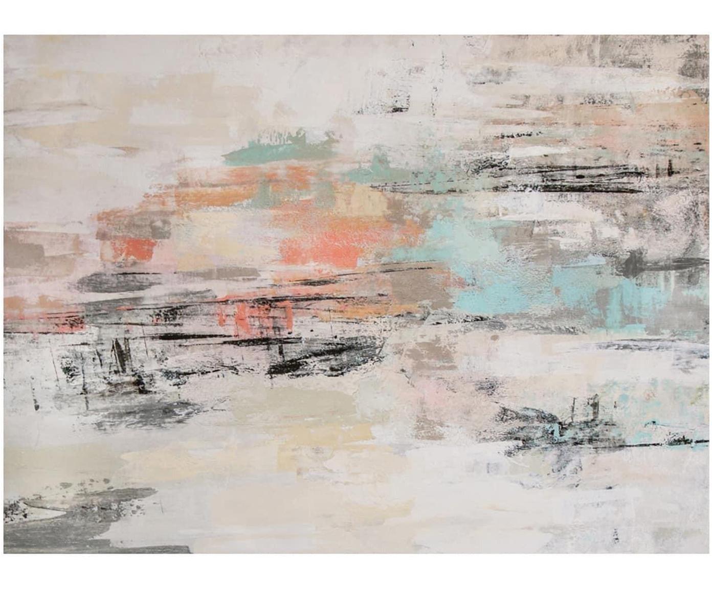 Impresión digital sobre lienzo Amazonas, Multicolor, An 125 x Al 90 cm