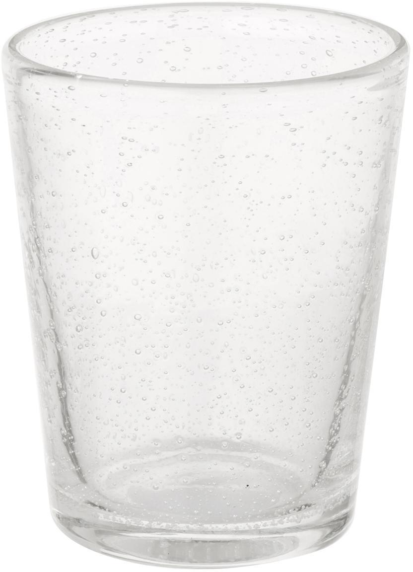 Mondgeblazen waterglazen Bubble, 4 stuks, Mondgeblazen glas, Transparant met luchtbellen, Ø 8 x H 10 cm