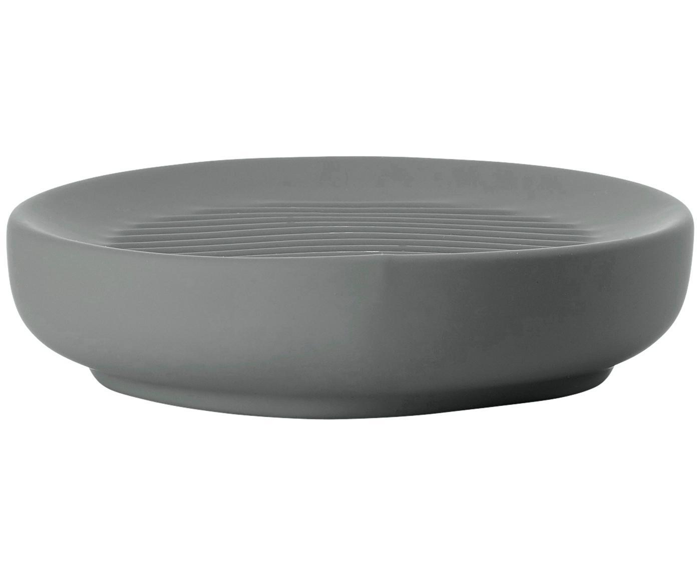 Zeephouder  Ume, Porselein, Grijs, Ø 12 x H 3 cm