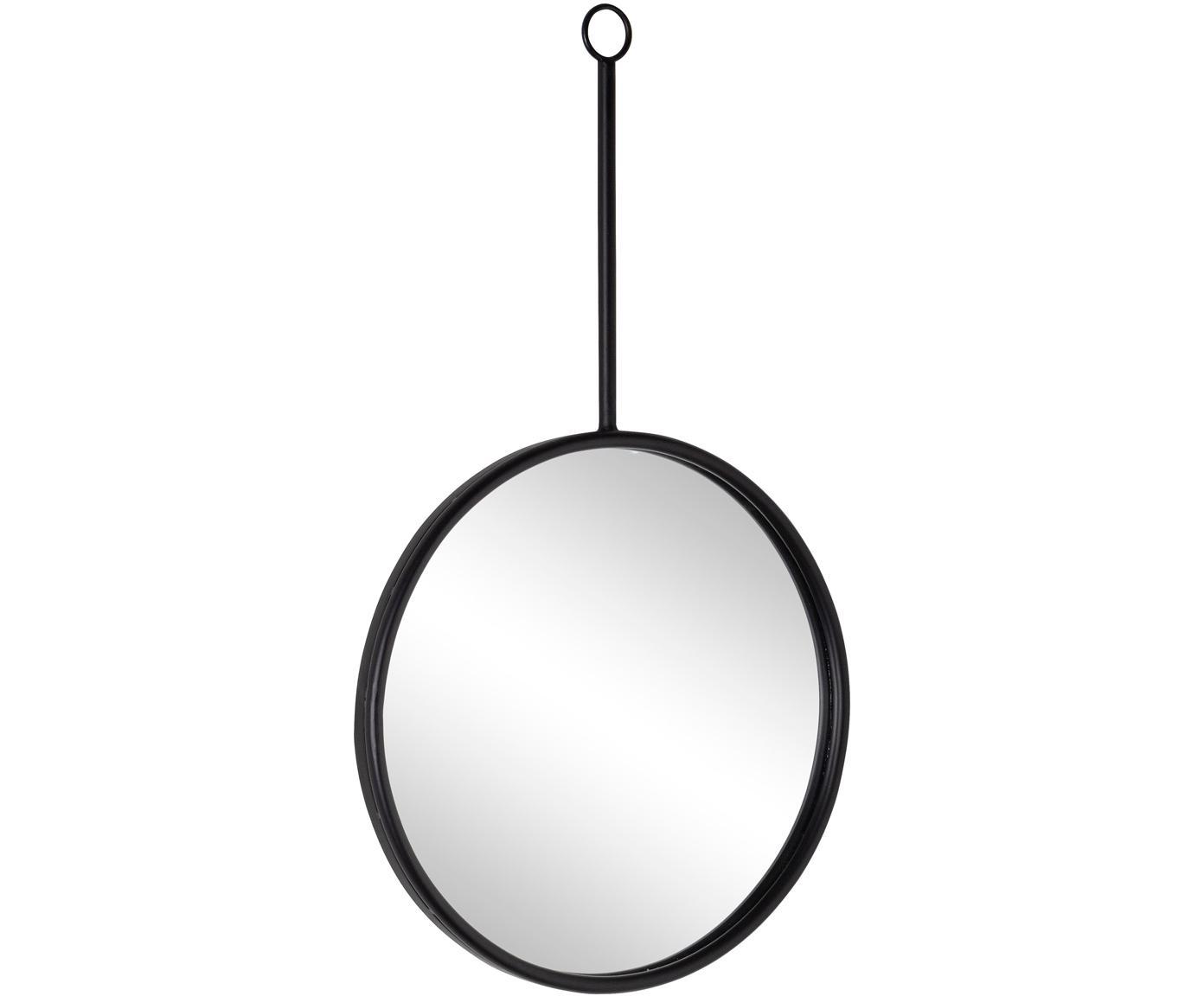 Specchio da parete con cornice in legno Regular, Cornice: legno, rivestito, Superficie dello specchio: lastra di vetro, Nero, Larg. 40 x Alt. 70 cm