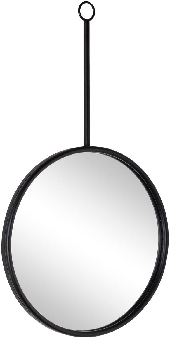 Wandspiegel Regular mit schwarzem Holzrahmen, Rahmen: Holz, beschichtet, Spiegelfläche: Spiegelglas, Schwarz, 40 x 70 cm