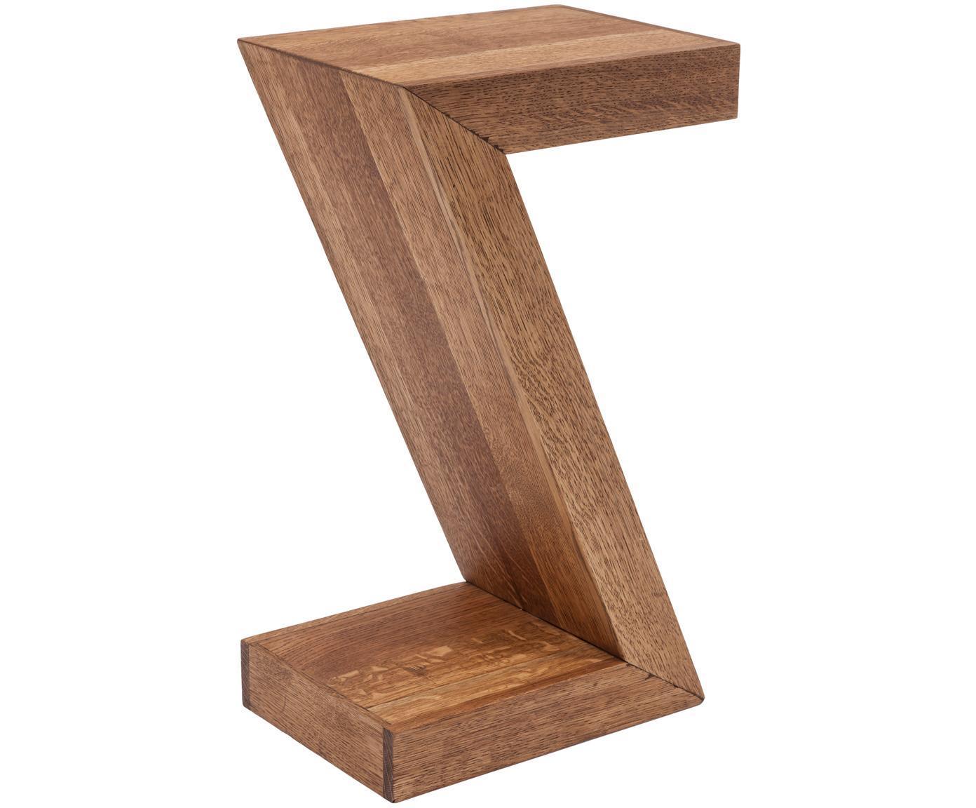 Tavolino in legno di quercia Attento, Legno di quercia, massiccio, oliato, Legno di quercia, Larg. 30 x Prof. 20 cm