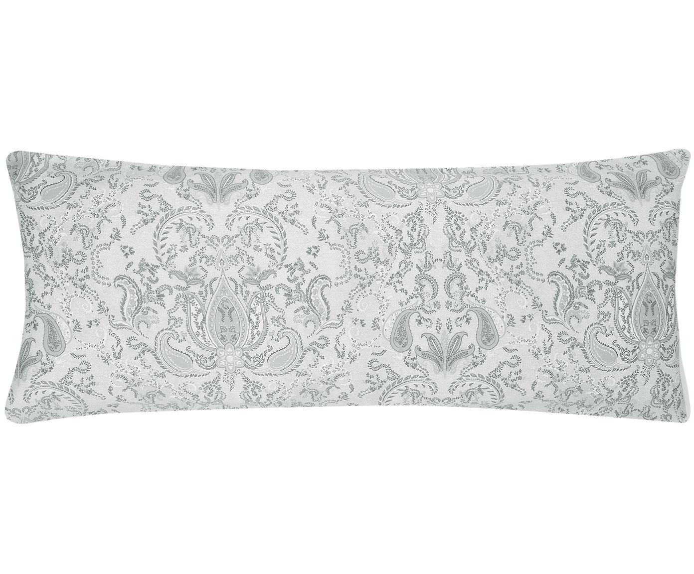 Funda de almohada de satén Grantham, Gris claro, An 45 x L 110 cm