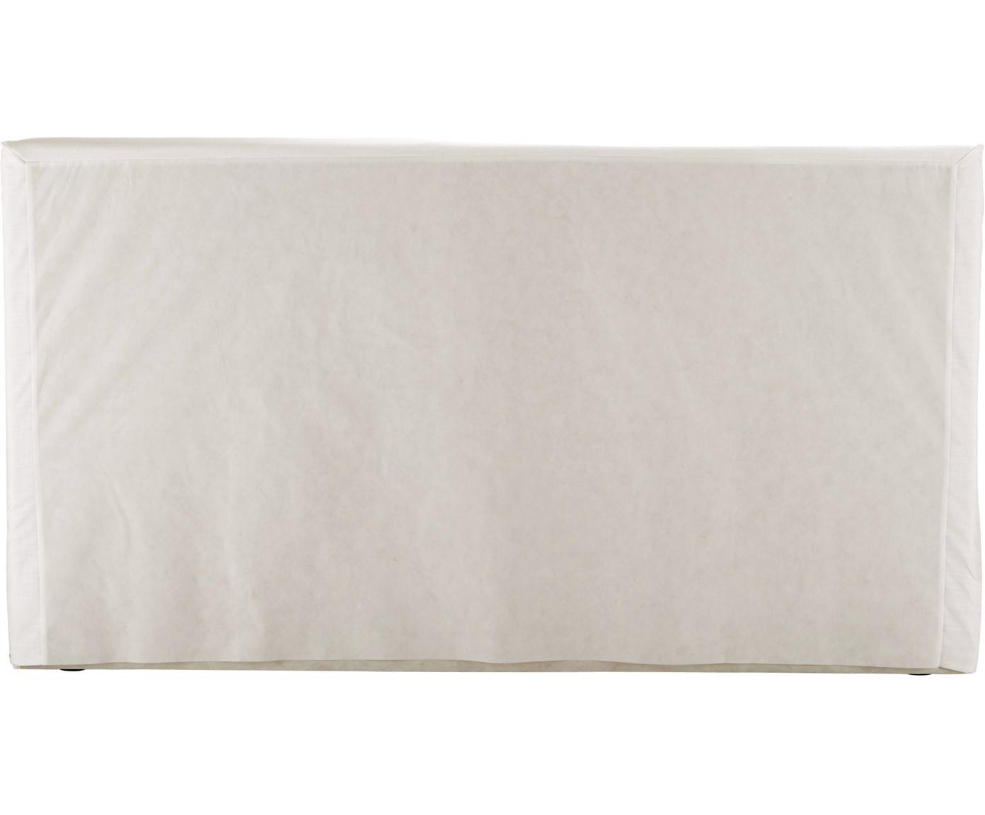 Letto imbottito con contenitore Feather, Rivestimento: Poliestere (tessuto strut, Tessuto ecru, 180 x 200 cm