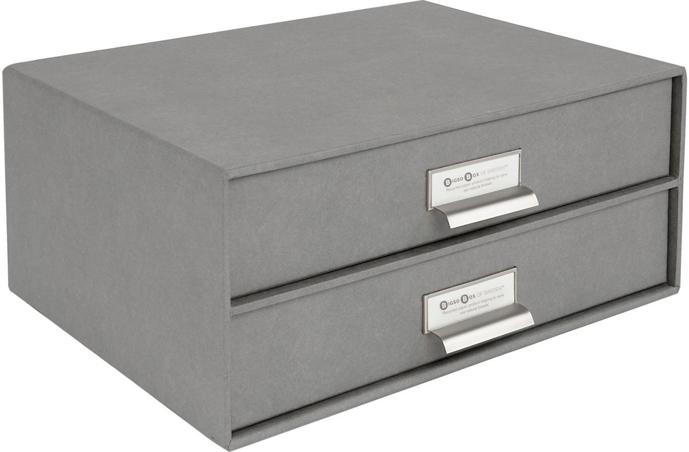 Büro-Organizer Birger, Organizer: Fester, laminierter Karto, Organizer aussen: HellgrauOrganizer innen: Weiss, 33 x 15 cm