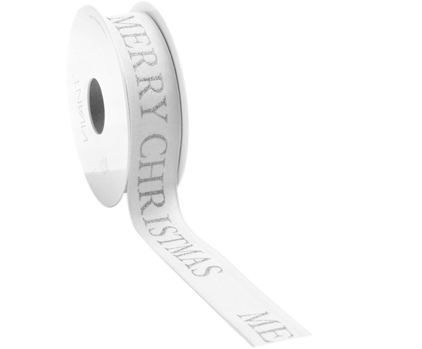 Cadeaulint Textire, Polyester, Wit, zilverkleurig, 3 x 1500 cm