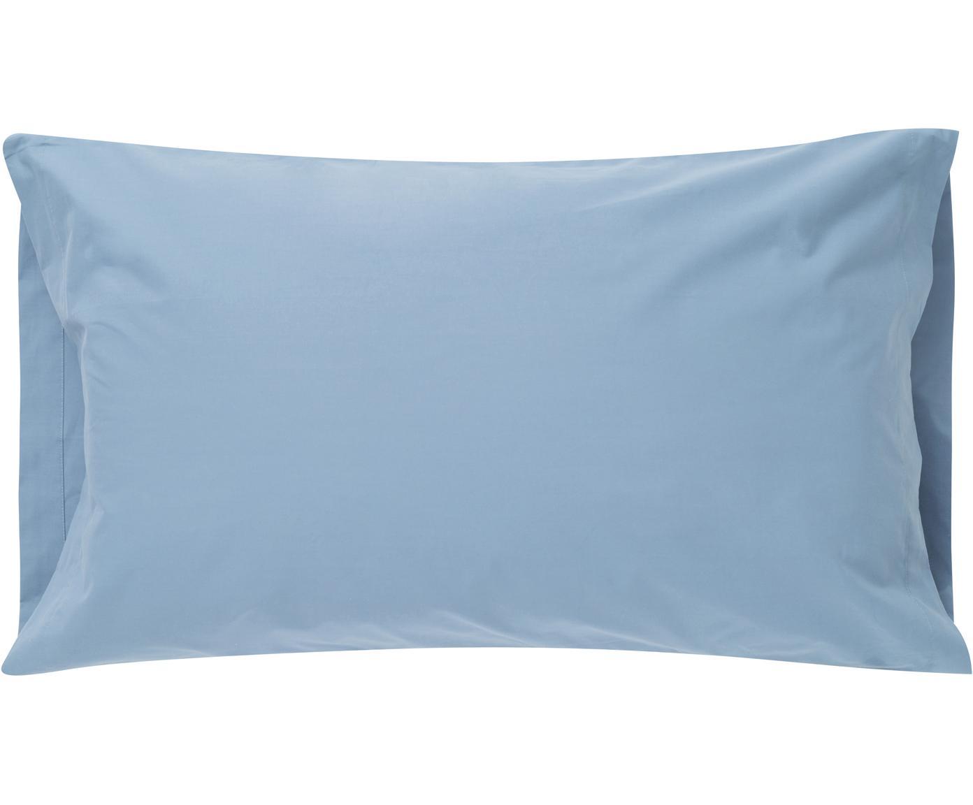 Funda de almohada Plain Dye, Algodón, Azul vaquero, An 50 x L 110 cm