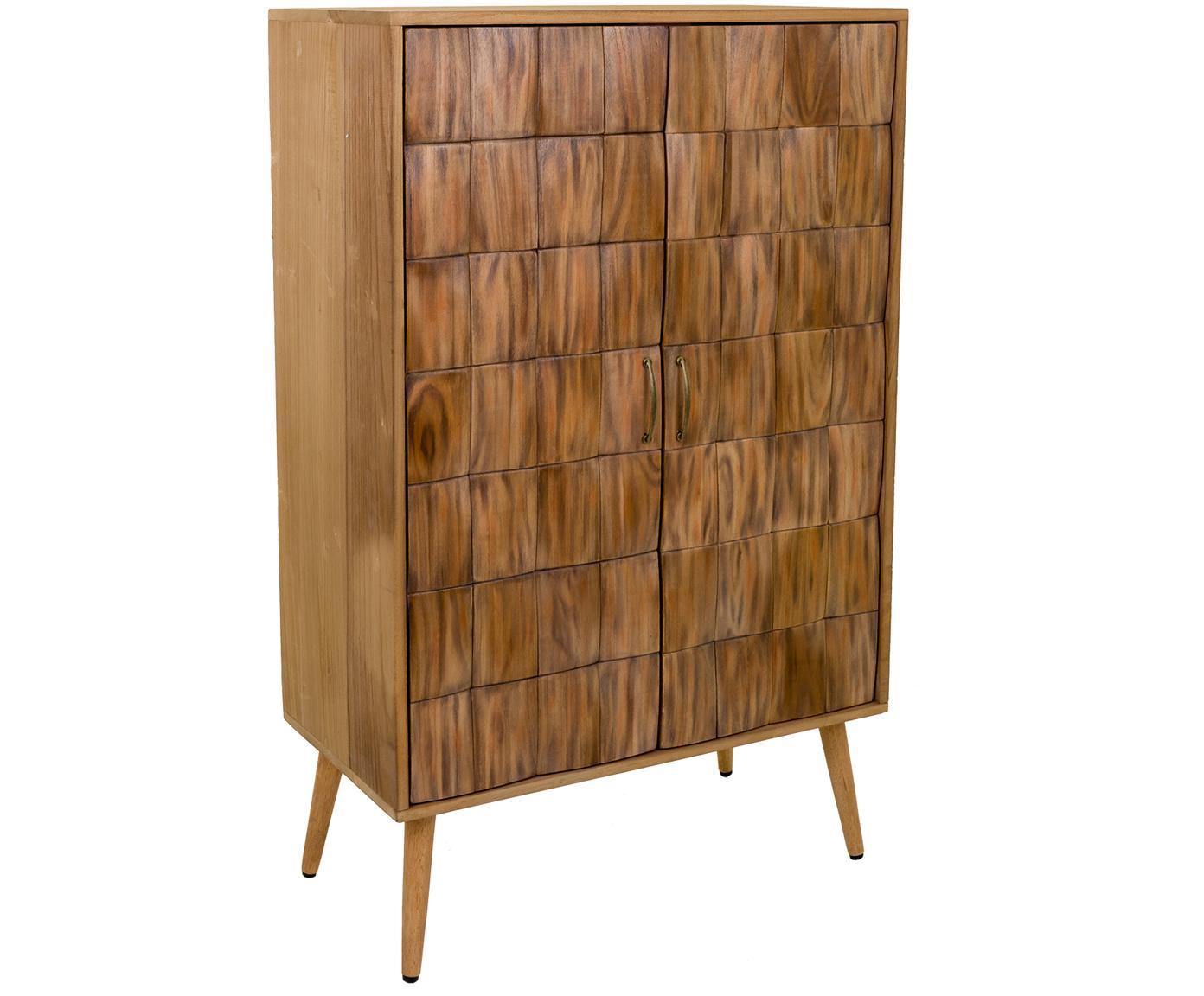 Mueble auxiliar Lucas, Beige, An 76 x Al 125 cm