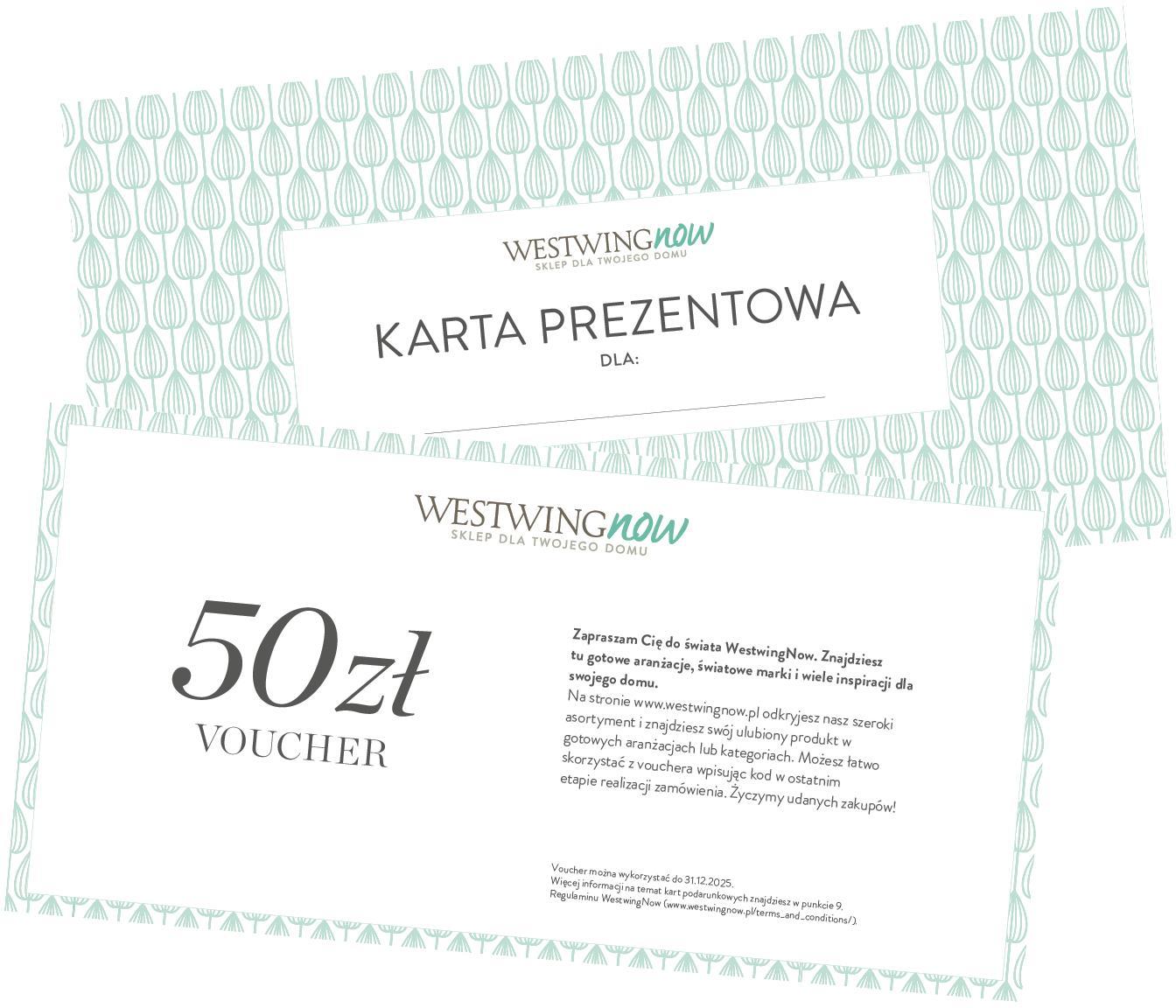Karta prezentowa, Karta prezentowa z cienkiego papieru, w grubej kopercie, Biały, 50