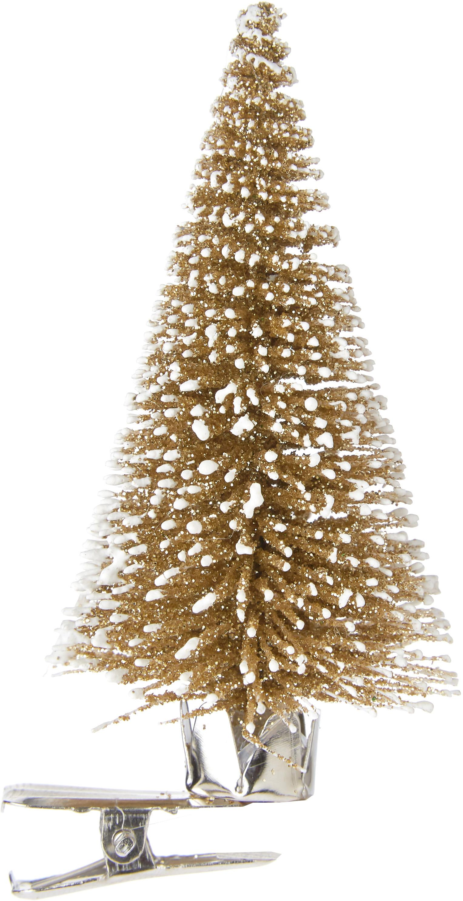 Ozdoba choinkowa Felicia, Tworzywo sztuczne (PE), Odcienie złotego, Ø 4 x W 9 cm