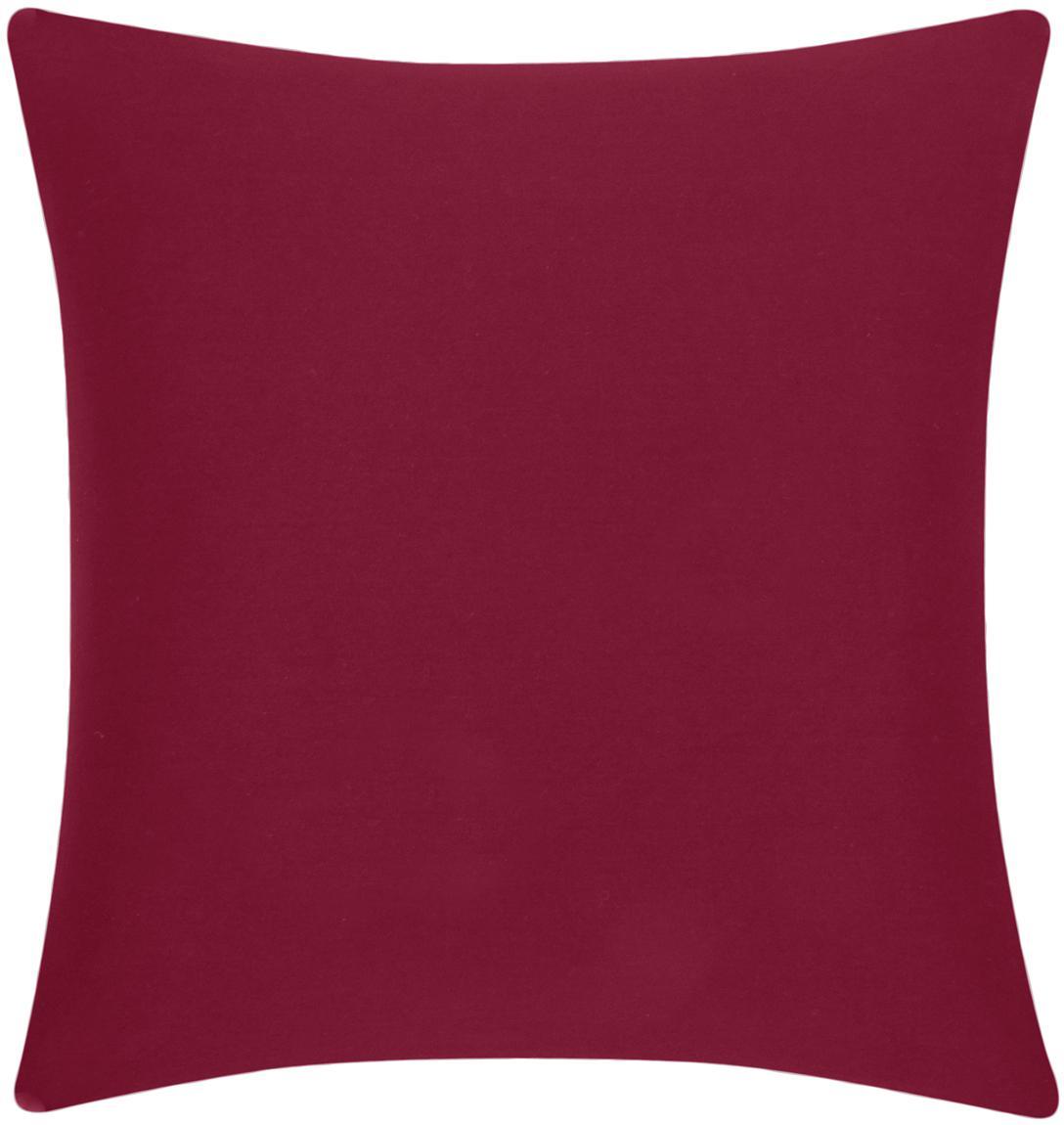 Kussenhoes Mads, 100% katoen, Rood, 40 x 40 cm