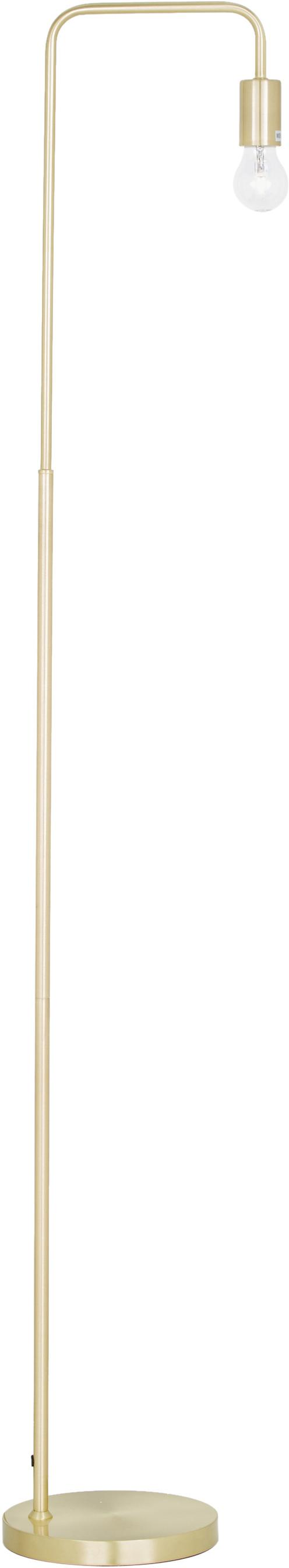Lámpara de pie Flow, Cable: cubierto en tela, Latón, cepillado, An 33 x Al 153 cm
