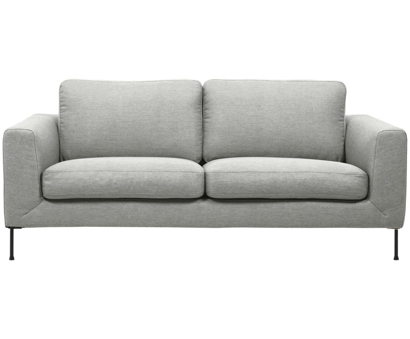 Sofa Cucita (2-Sitzer), Bezug: Webstoff (Polyester) 45.0, Gestell: Massives Kiefernholz, Webstoff Hellgrau, B 187 x T 94 cm