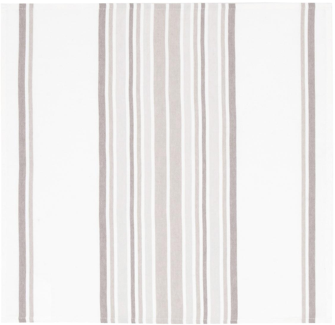 Servilletas de algodón Katie, 2uds., Algodón, Blanco, beige, An 50 x L 50 cm
