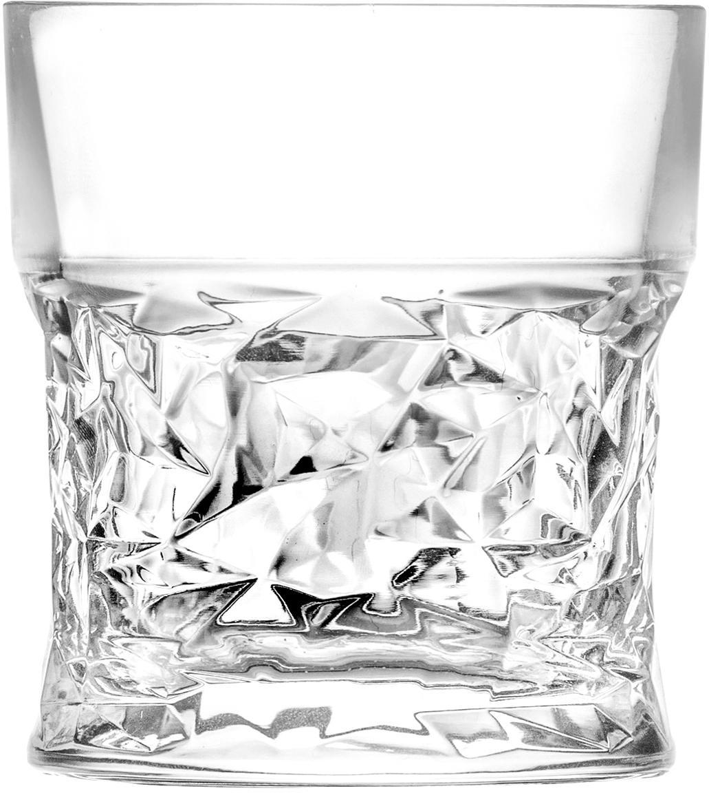 Kristallgläser Bicchiero mit geometrischem Reliefmuster, 6er-Set, Kristallglas, Transparent, Ø 9 x H 10 cm