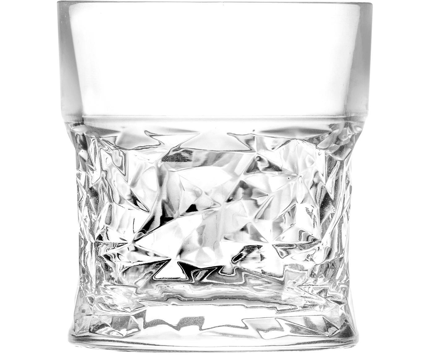 Kristallen whiskeyglazen Bicchiero, 6 stuks, Kristalglas, Transparant, Ø 9 x H 10 cm