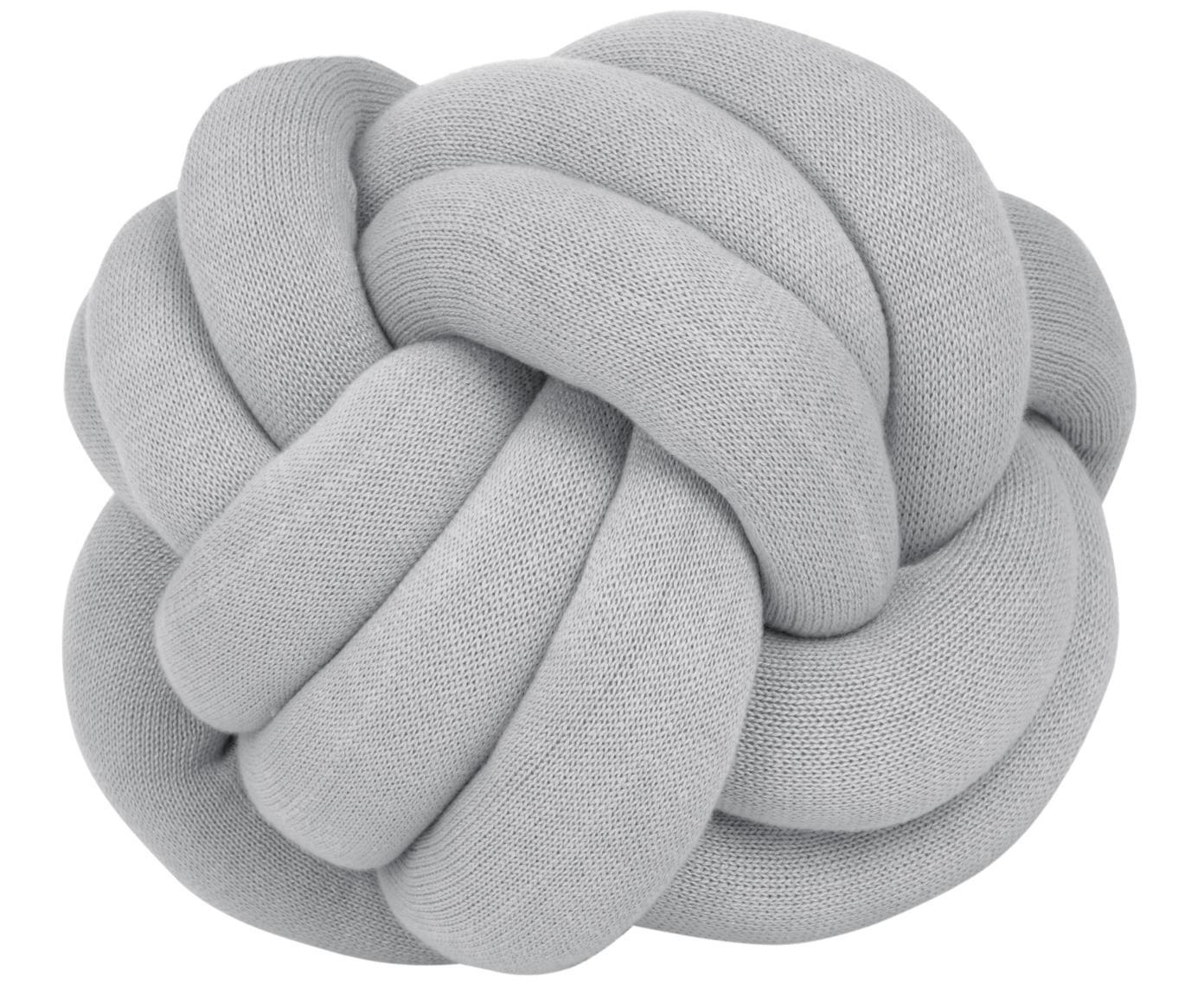 Cuscino grigio chiaro Twist, Grigio chiaro, Ø 30 cm