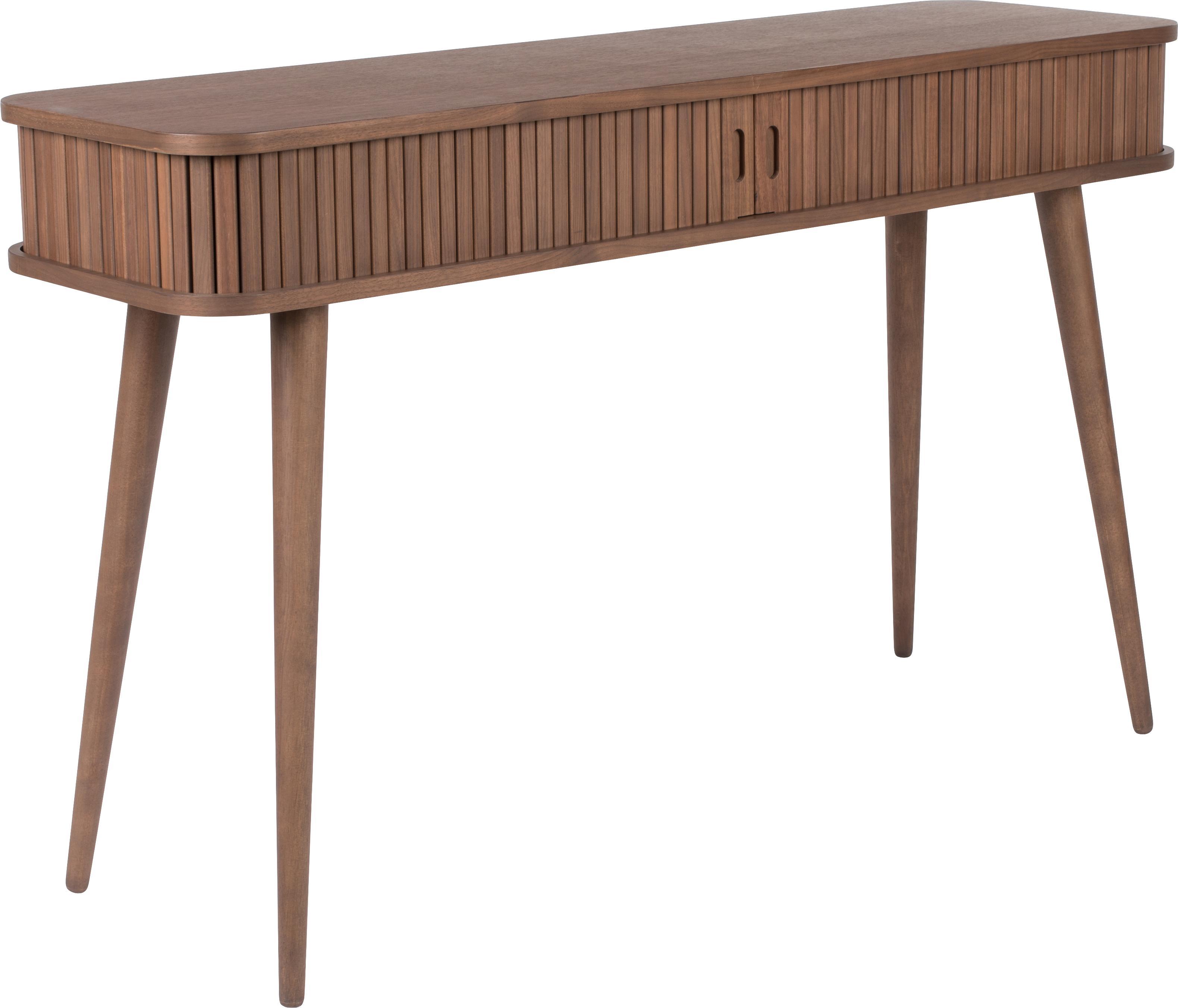 Consolle in legno con cassetti Barbier, Legno di noce, Larg. 120 x Prof. 35 cm