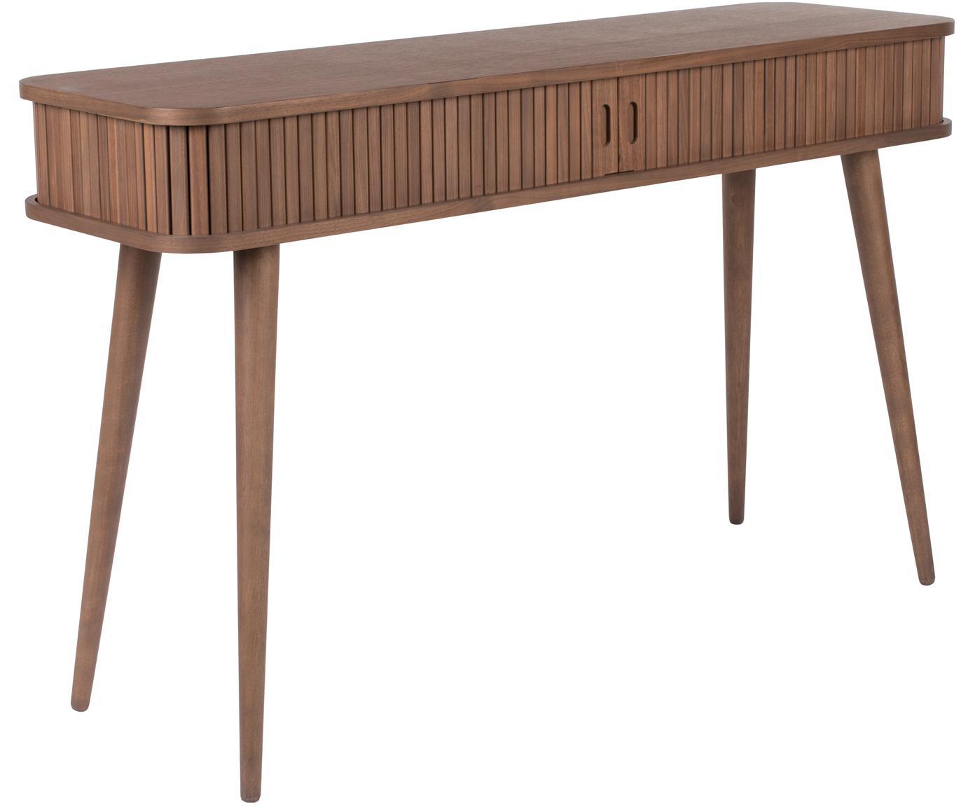 Consola de madera Barbier, Estructura: tablero de fibras de dens, Nogal, An 120 x F 35 cm