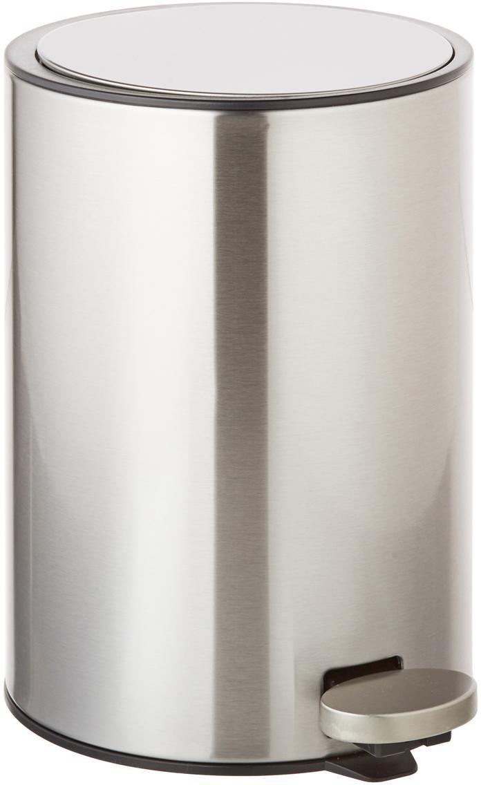 Afvalemmer Tenes met pedaal functie, Zilverkleurig, Ø 19 x H 26 cm