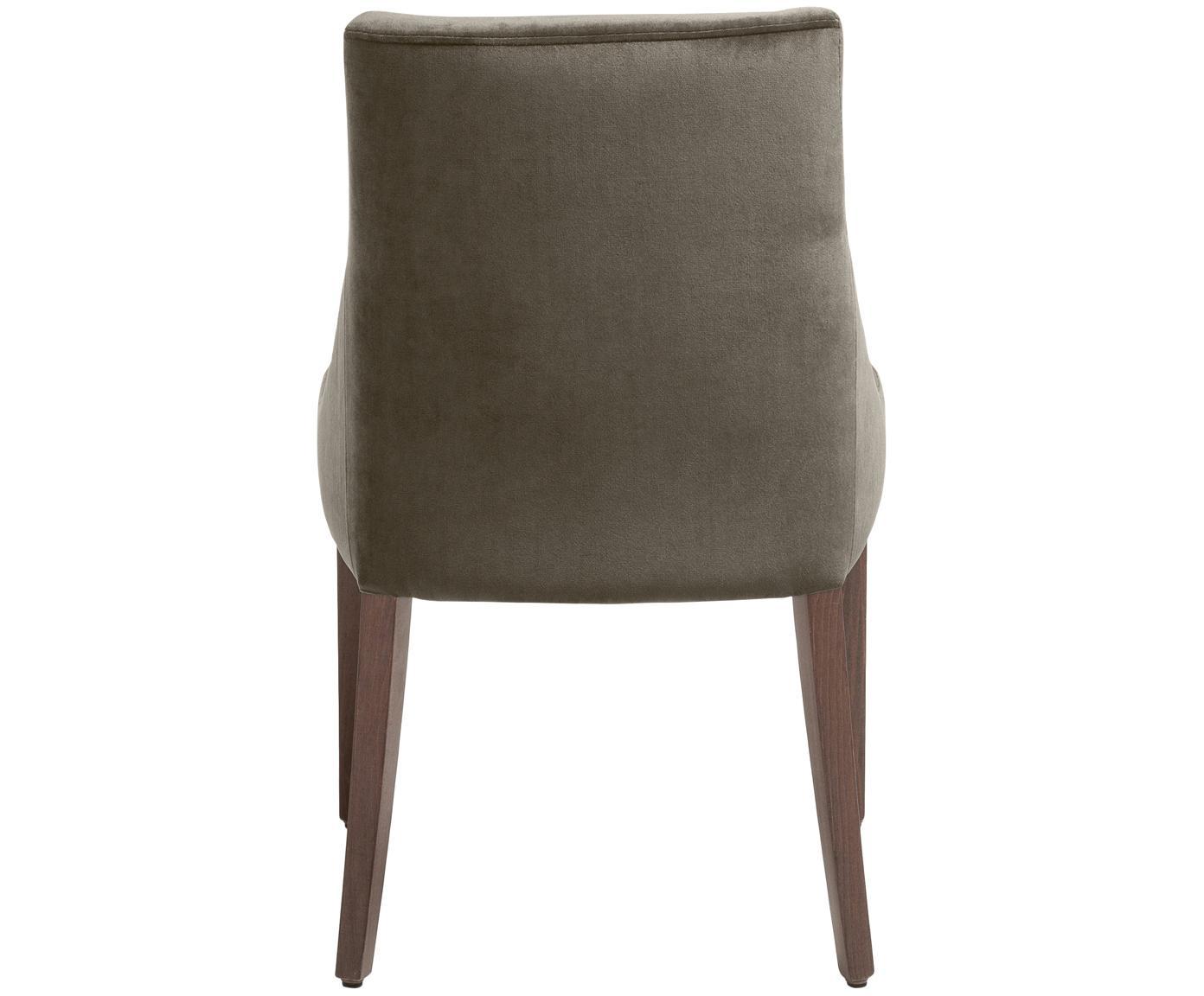 Fluweel beklede stoel Manhattan, Poten: Beukenhout, Donker gebeit, Hoes: Donkergrijs<br>Poten: Beukenhout, Donker gebeitst, 52 x 86 cm
