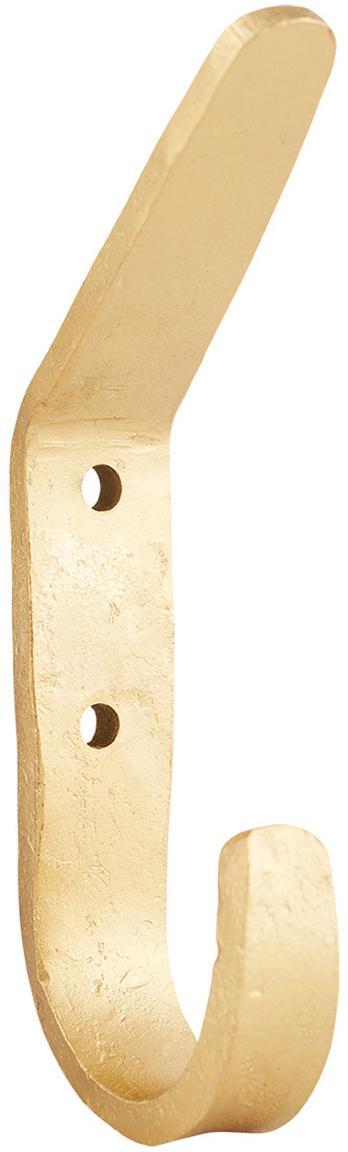 Gancio appendiabiti in metallo Forga 2 pz, Metallo rivestito, Ottonato, Larg. 2 x Alt. 12 cm