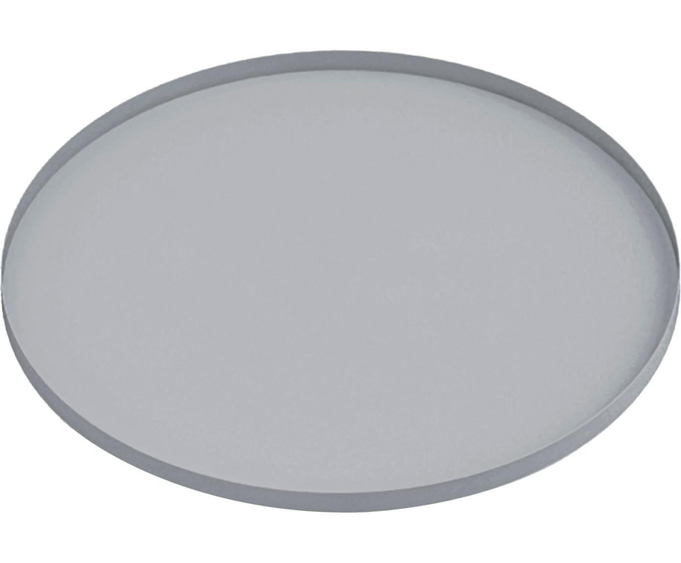 Dienblad Arla, Gecoat metaal, Grijs, crèmewit, Ø 41 cm