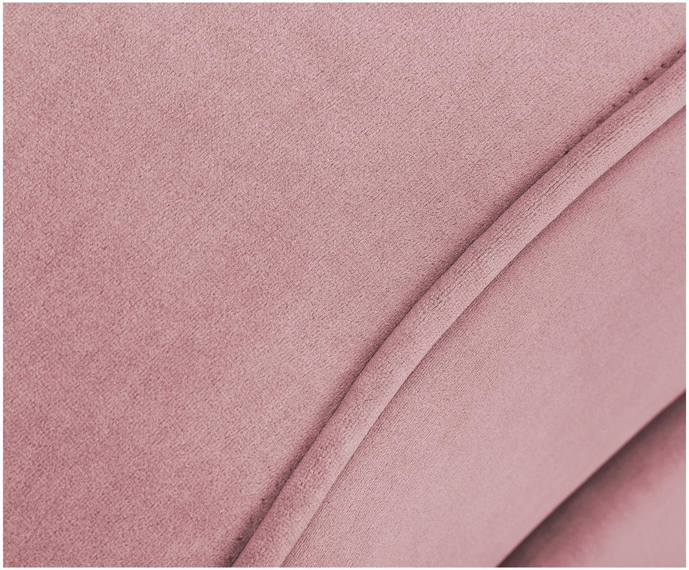 Sofa z aksamitu w kształcie nerki Gatsby (2-osobowa), Tapicerka: aksamit (poliester) 2500, Stelaż: lite drewno eukaliptusowe, Nogi: metal galwanizowany, Blady różowy, S 173 x G 87 cm
