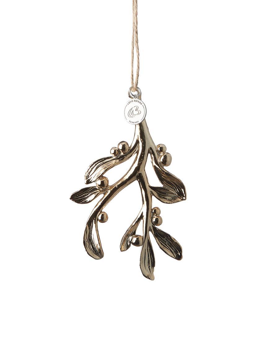 Adornos navideños Serafina Mistletoe, 2uds., Dorado, An 7 x Al 11 cm