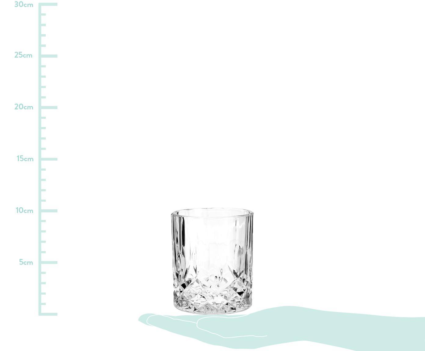 Vasos old fashioned de cristal George, 4uds., Vidrio, Transparente, Ø 8 x Al 10 cm
