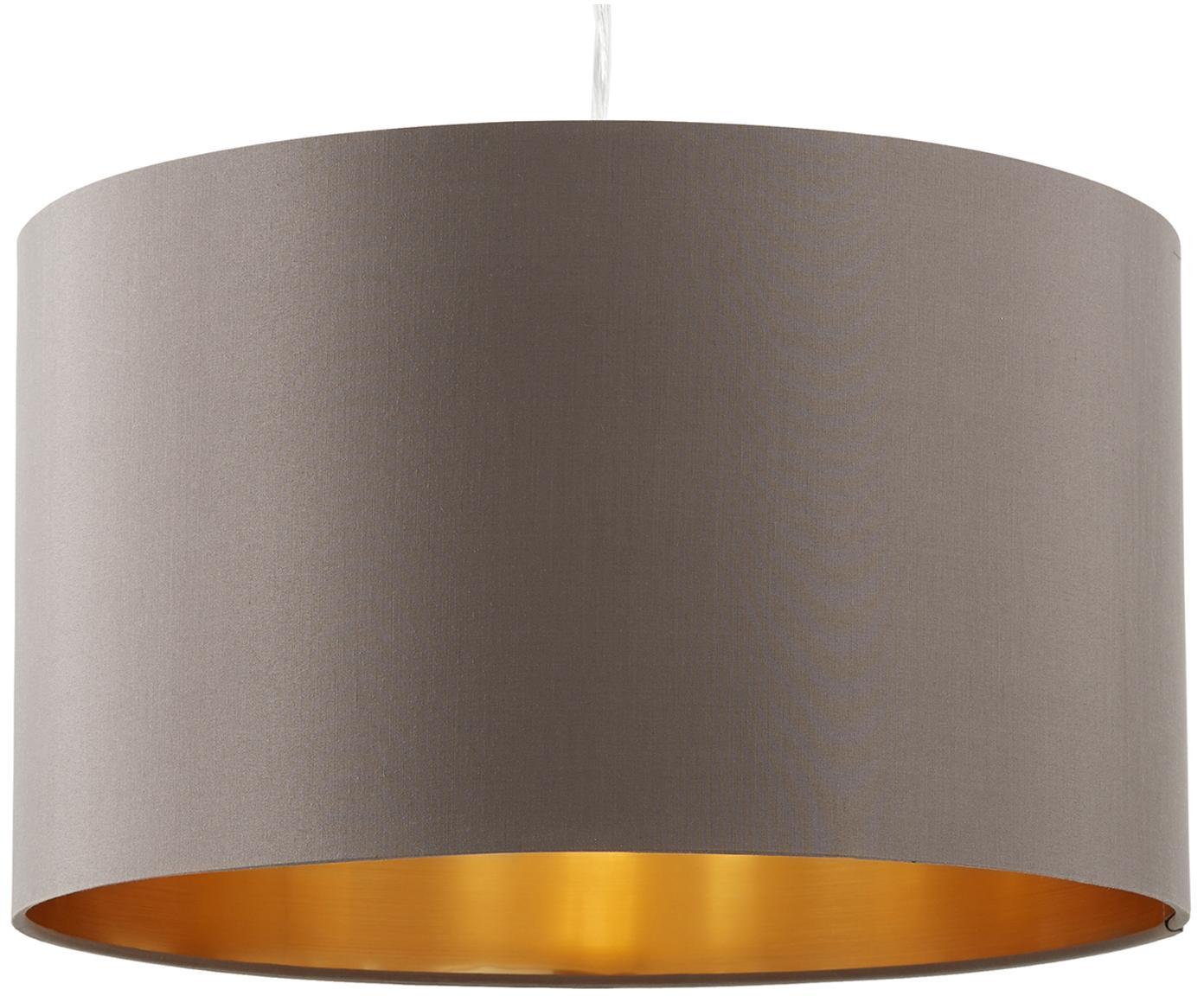Lampada a sospensione Jamie, Baldacchino: metallo nichelato, Argento, grigio-beige, Ø 38 x Alt. 23 cm