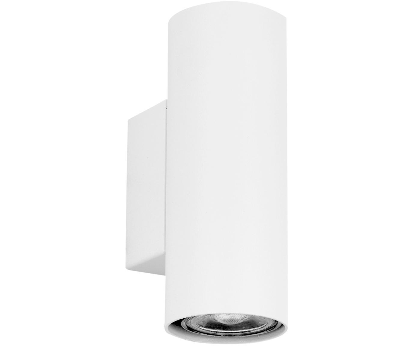 Kinkiet LED Paul, Metal malowany proszkowo, Biały, S 6 x W 9 cm