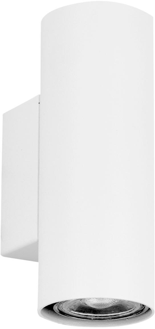 Wandleuchte Paul, Metall, pulverbeschichtet, Weiß, 6 x 9 cm