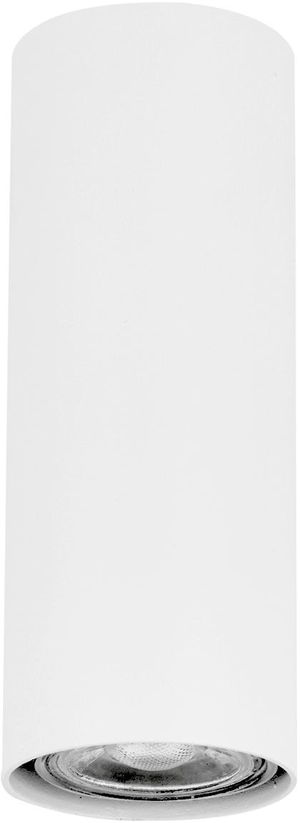 Wandstrahler Paul, Metall, pulverbeschichtet, Weiß, 6 x 9 cm