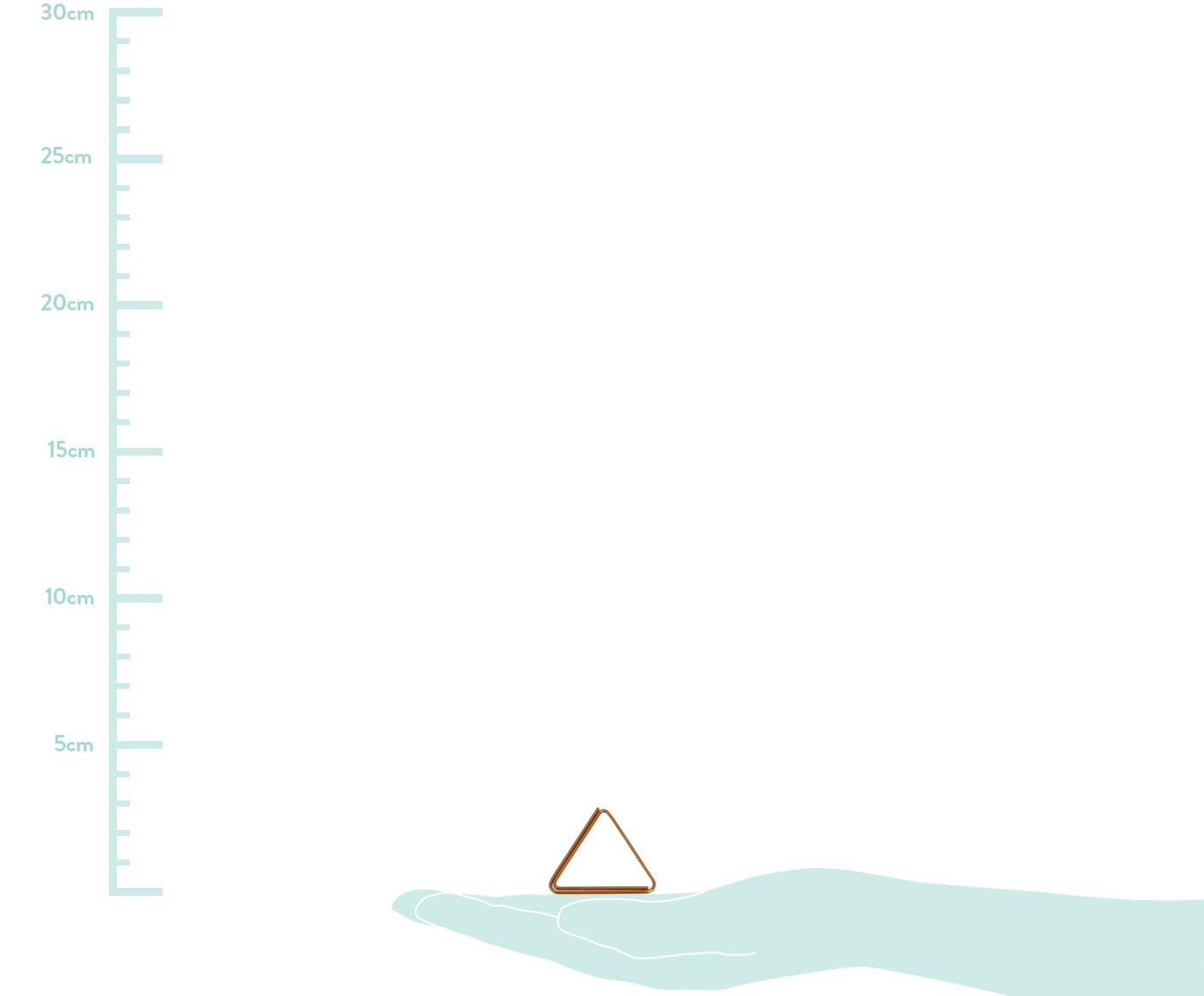 Büroklammern-Set Geometria, 9-tlg., Metall, lackiert, Kupferfarben, 3 x 3 cm