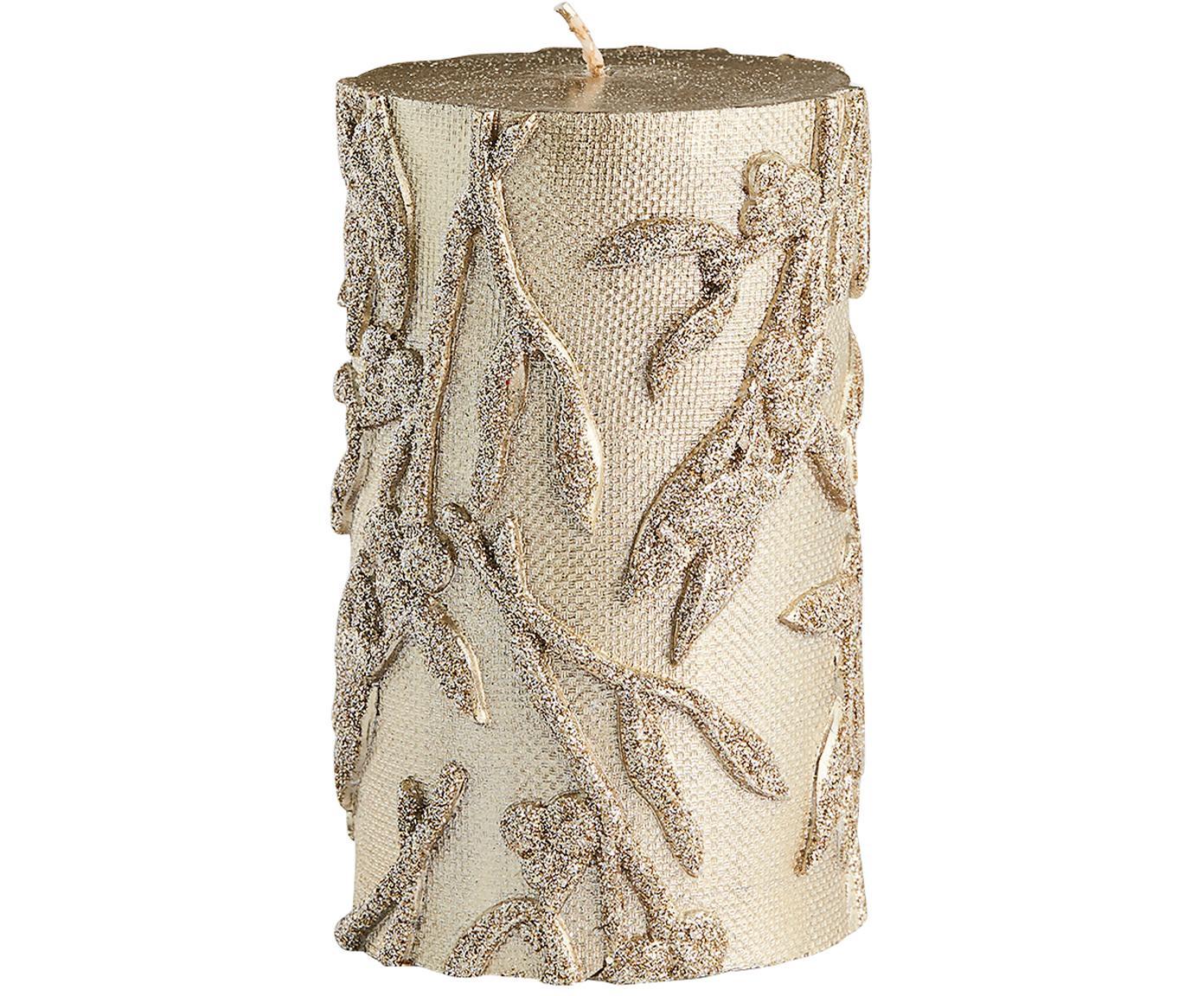 Vela pilar Mistle, Parafina, Dorado, Ø 7 x Al 13 cm