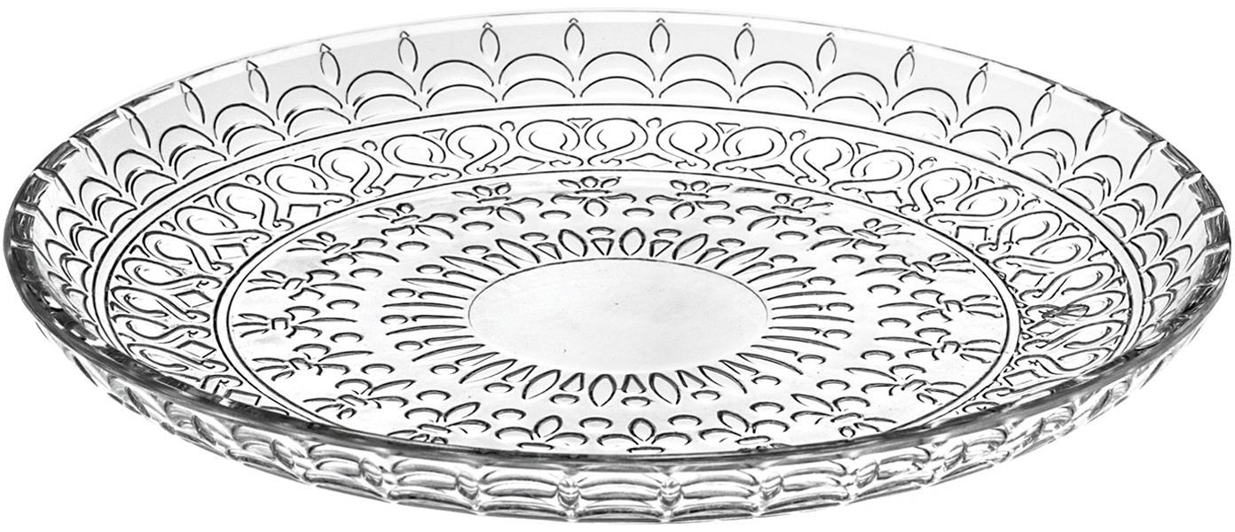 Piattino da dessert in cristallo Fondo 4 pz, Cristallo Luxion, Trasparente, Ø 21 cm