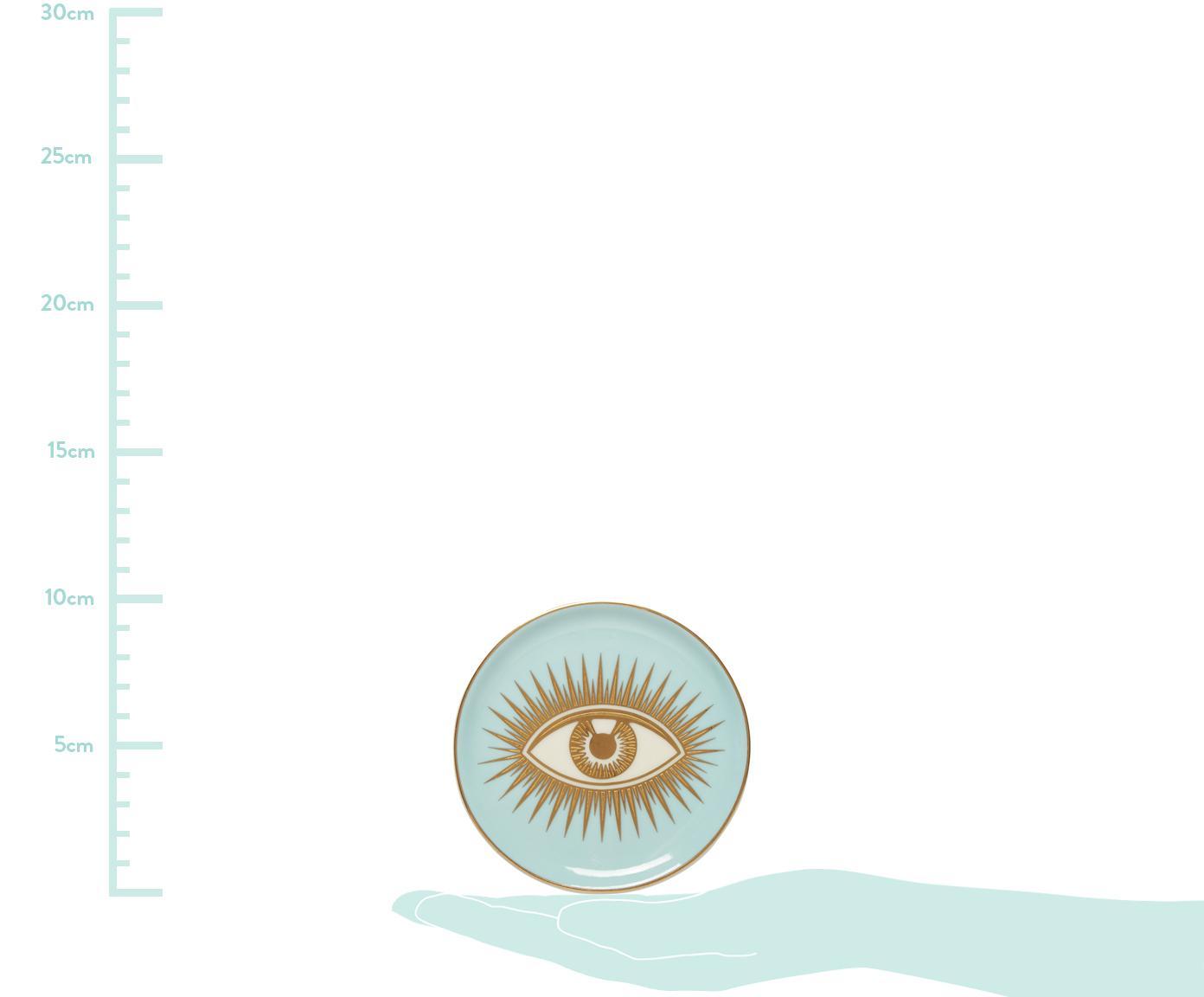 Designer Untersetzer Le Wink, 4er-Set, Porzellan, Mehrfarbig, Ø 10 x H 2 cm