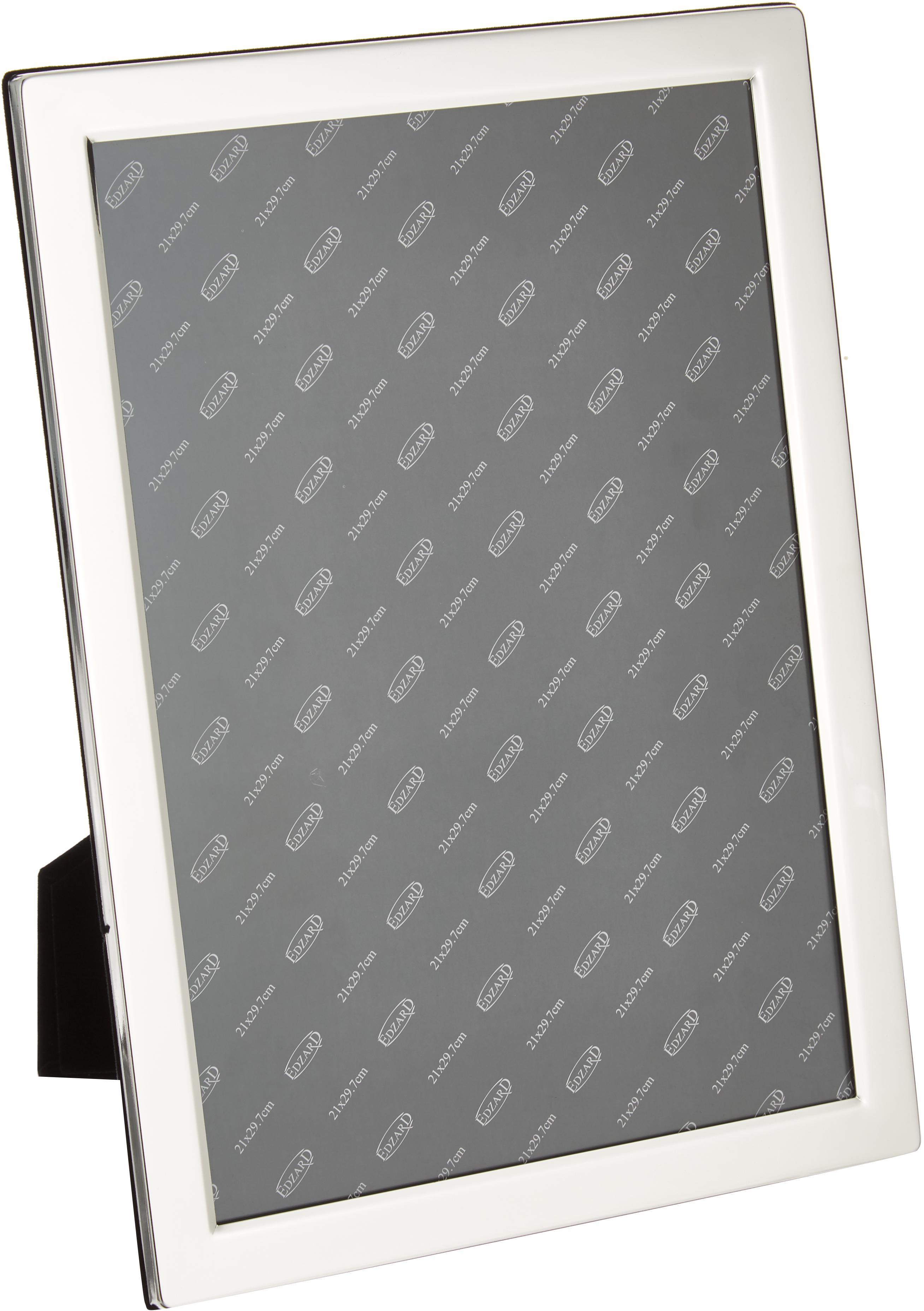 Cornice da tavolo Carrara, Cornice: acciaio, argento placcato, Cornice: argento Frontale: trasparente, 20 x 30 cm