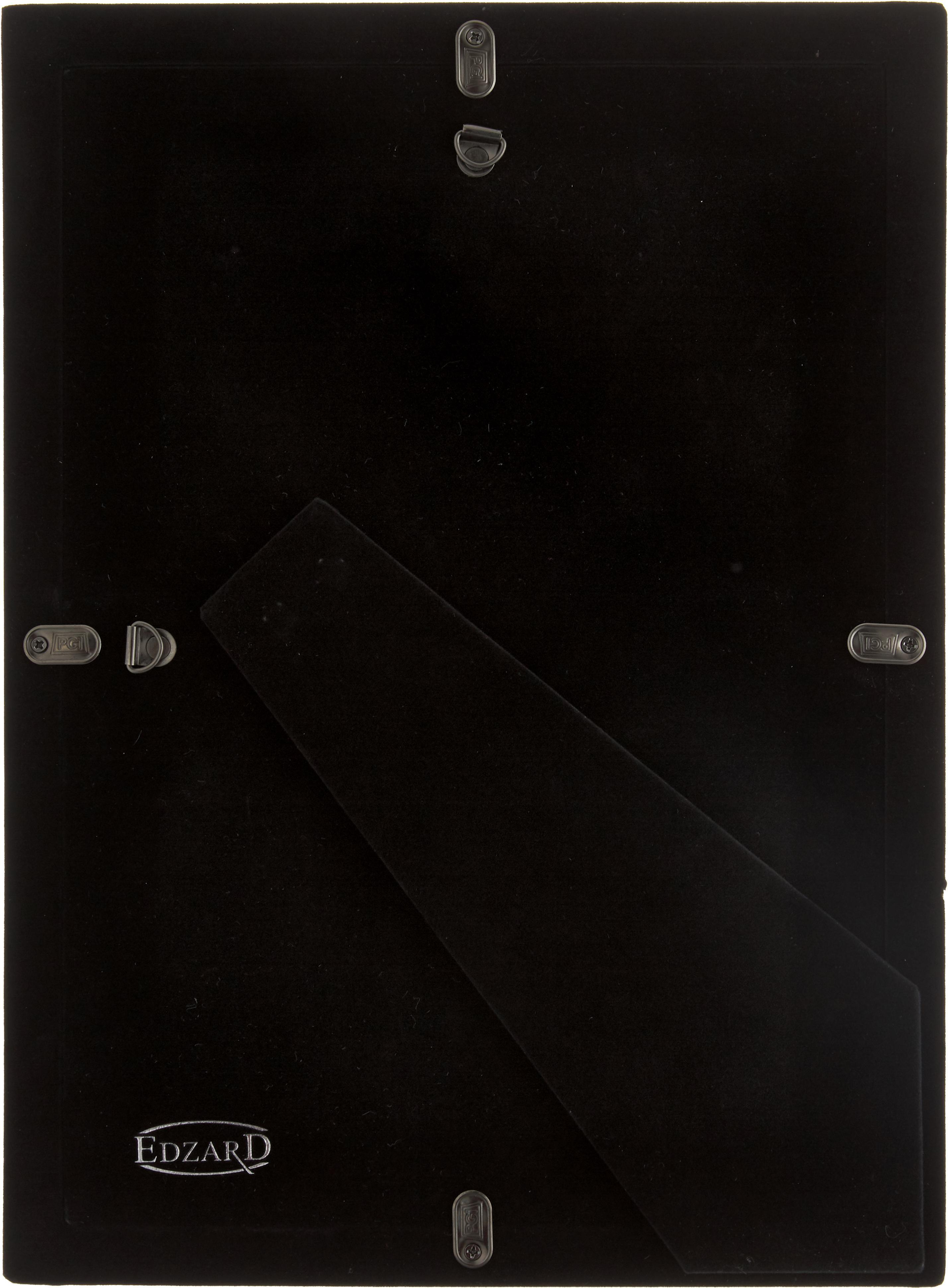 Bilderrahmen Carrara, Rahmen: Stahl, versilbert, Front: Glas, Rahmen: SilberfarbenFront: Transparent, 20 x 30 cm