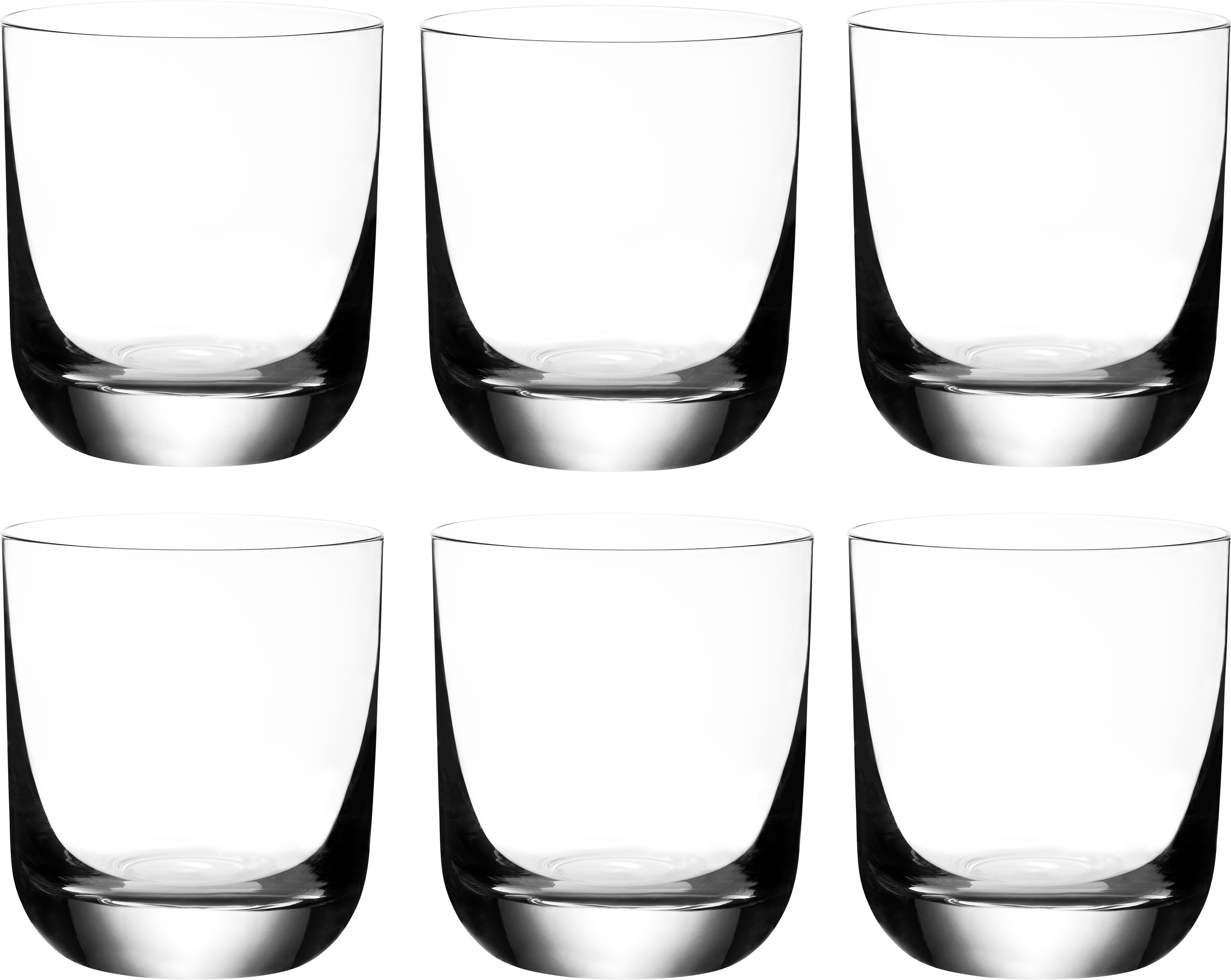 Vasos old fashioned de cristal Harmony, 6uds., Transparente, 300 ml