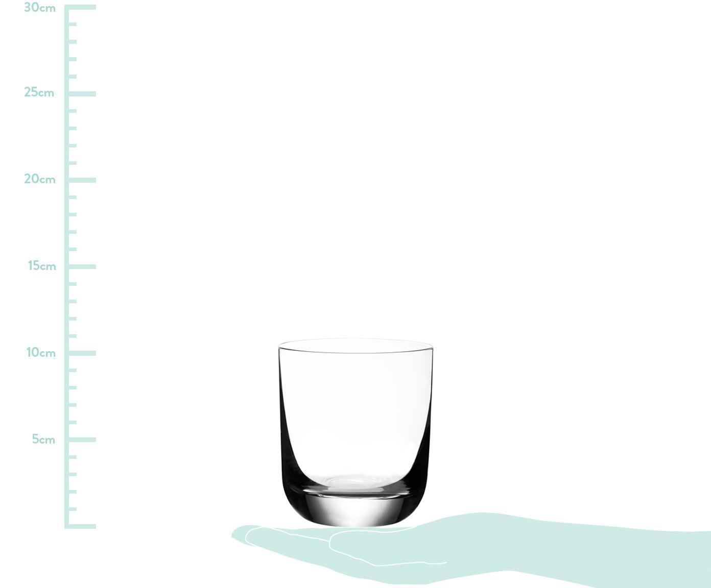 Bicchiere con bordo sottile in cristallo Harmony 6 pz, Cristallo ad alta lucentezza, particolarmente visibile al riflesso della luce, Trasparente, 300 ml
