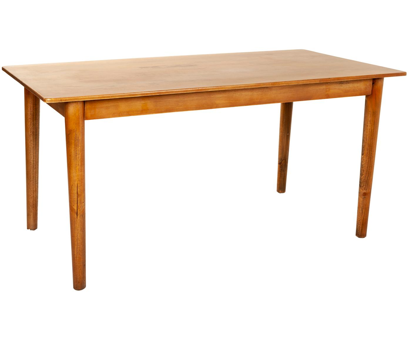 Mesa de comedor Alma, Patas: madera de abeto, Tablero: fibras de densidad media , Marrón, An 150 x F 80 cm