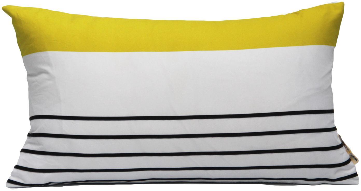 Poszewka na poduszkę Magdalena, Poliester, Biały, żółty, czarny, S 30 x D 50 cm