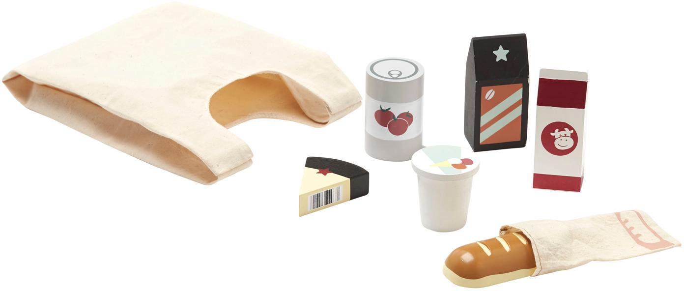 Spielzeug-Set Groceries, 8-tlg., Textil, Holz, Mehrfarbig, Sondergrößen