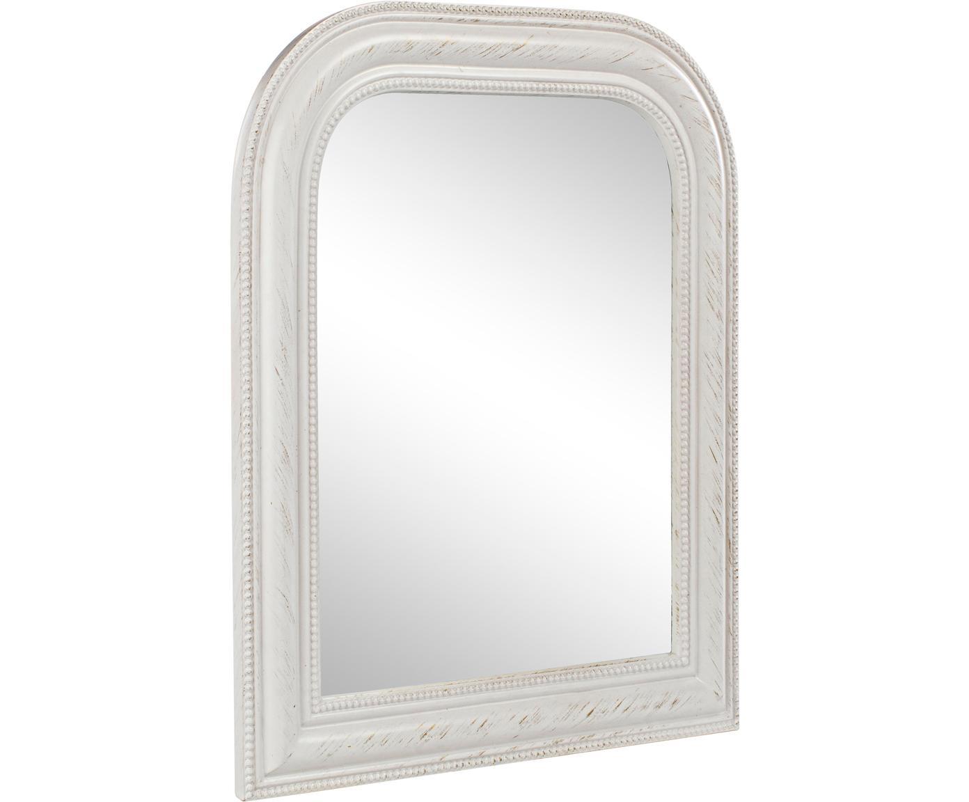 Specchio da parete Miro, Cornice: legno, rivestito, Superficie dello specchio: lastra di vetro, Bianco, Larg. 50 x Alt. 60 cm